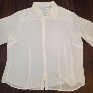 Covington Long Sleeve Button Down Blouse sz 22W